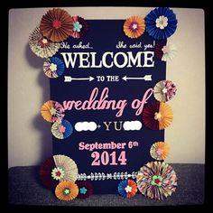 親友へのウェルカムボード完成♡   ♥haruka's wedding & maternity note♥