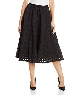Tracy Reese Women's Cotton Metal Fit and Flare Skirt, Black, 0 Tracy Reese http://www.amazon.com/dp/B00RXD24BA/ref=cm_sw_r_pi_dp_qpNowb03JRHX8