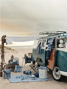 Could make a makeshift deck from a truck too, re. photography by Mikkel Vang for H Home