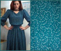 Spring Prairie Vintage flowy turquoise by SweetScoresVintage, $25.00