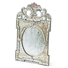 You may have to work extra hard to convince your guests that you aren't in fact royalty and this mirror wasn't passed down to you from family's medieval estate. Antiqued in a one of a kind method this