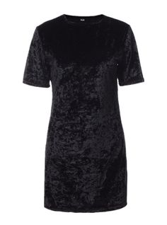 HIKARE Women's Vintage Crushed Velvet Short Sleeve T Shirt Mini Dress at Amazon Women's Clothing store: