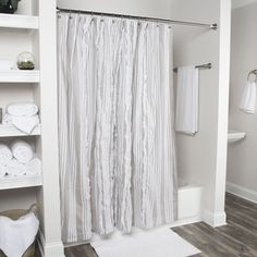 Shop for Arden Loft Geometric Grey White 72 x 72 Shower Curtains. Get free delivery at Overstock.com - Your Online Bath
