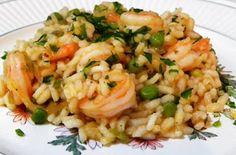 Risoto de camarão e ervilhas ~ Cozinha Divinal