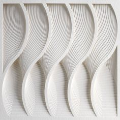 WAVE (detail), from Process Series 2, 2013; paper 8 x 11 x 1/2 inches. Photo by Cullen Stephenson.