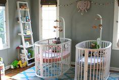 İkiz bebek odası dekorasyonu