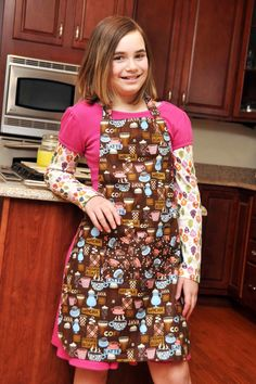 Children's Large Adjustable Cooking Apron by QuiltandQuest on Etsy, $30.00