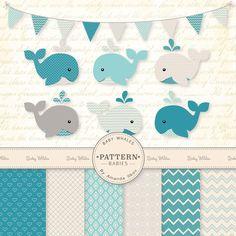 ... Blue Baby Whales Clip Art ...