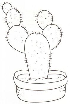 Resultado de imagen de cactus en tela moldes