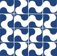 Wave (tiles).  Ligia de Medeiros. 2014