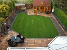 Aerial view of back garden. Make your home design dreams come true. Read reviews of 1000s of trusted tradesmen across the UK and get free quotes on MyBuilder.com.