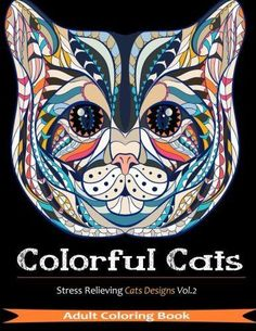Coloring Books For Adults 33 Designs Cats Stress Relieving