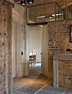 Restored farmhouse by Architect Bernard de Clerck, image via Corvelyn as seen on… – Modern Design - Modern Rustic Chic, Modern Rustic, Rustic Contemporary, Interior Architecture, Interior And Exterior, Restored Farmhouse, Barn Living, Old Barn Wood, Decoration Inspiration
