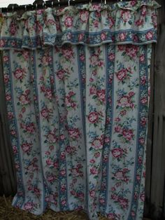Navy Blue Asian Inspired Fabric Shower Curtain Birds Chints Custom Peach Green