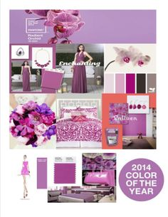 2014 Trends, Color Of The Year, Color Theory, Pantone Color, Wedding Trends, Orchids, Bedroom, Bedrooms, Dorm Room