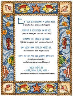 Fingerspiel Unterwasser Fische Reim Gedicht Kindergarten Erzieherin Kita Wasser Kinder Erziehung