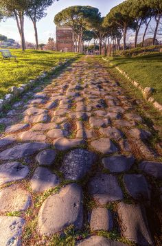 """The Via Latina, Italy ~  The Via Latina (""""Latin Road"""") was a Roman road running through Italy southeast from Rome for about 124 miles. It led f..."""