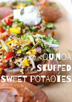Weeknight Cooking You'll love these Quinoa Stuffed Sweet Potatoes for ...