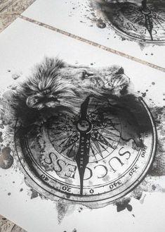 Tattoo Kompass Löwe Key to success compass tattoo Neue Tattoos, Body Art Tattoos, Sleeve Tattoos, Tatoos, Wrist Tattoos, Mini Tattoos, Compass Tattoo, Tatuaje Trash Polka, Create Your Own Tattoo