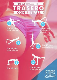 Reafirma tu trasero con fitbally por Fitness en Femenino - Firm your butt with fitball vía Fitness in Women. Fitness Workouts, Yoga Fitness, Fitness Motivation, At Home Workouts, Health Fitness, Physical Fitness, Easy Workouts, Fitness Status, Kids Fitness