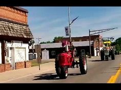 Amish Country Tractor Cruise Going Through Arthur