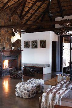bedroom interior at the Mhondoro Game Lodge
