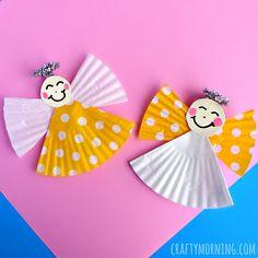 Cupcake Liner Angel Craft for Kids - Crafty Morning