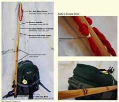 Make your own walking staff.