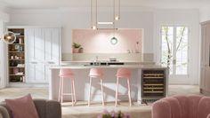 5 Successful Cool Tricks: Modern Minimalist Kitchen Breakfast Bars minimalist decor traditional less is more.Minimalist Home Style Decor minimalist bedroom men man caves. Minimalist House Design, Minimalist Home Decor, Minimalist Kitchen, Minimalist Interior, Minimalist Bedroom, Minimalist Living, Modern Minimalist, Pink Kitchen Designs, Pink Kitchen Decor