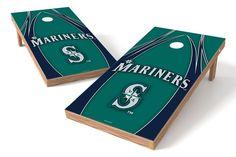 Seattle Mariners Cornhole Board Set - The Edge (w/Bluetooth Speakers)