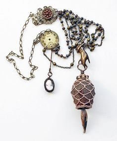 Dysphoria Edwardian Rustic Assemblage Necklace by yesdearsister, $62.00