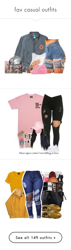 """""""fav casual outfits"""" by josianagarc ❤ liked on Polyvore featuring ODD FUTURE, T By Alexander Wang, Pernille Corydon, adidas Originals, Chanel, Brooks Brothers, NIKE, MCM, Monki and MICHAEL Michael Kors"""