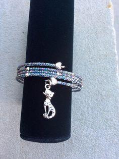 Cat Charm Bracelet Crazy Cat Lady Jewelry by JenuineJewelryShop