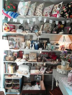 shelves, curated clutter