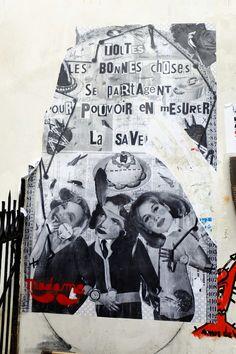 Paris 20 - rue julien lacroix - street art - madame moustache
