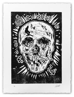 A curious skull.  Tom French