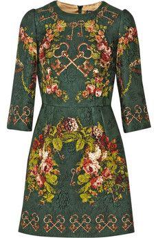 Dolce & Gabbana - Printed matelassé mini dress
