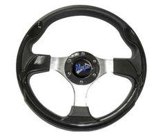 """shopcardinal.com MadJax 13"""" Ultra Series Golf Cart Steering Wheel Black MJULTRAB NIB SALE, $83.50 (http://www.cardinalsellingservices.com/madjax-13-ultra-series-golf-cart-steering-wheel-black-mjultrab-nib-clearance/)"""