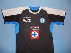Umbro Men's Cemento Deportivo Cruz Azul Soccer Jersey 1996? Telcel Coca-Cola Med #Umbro #CruzAzul