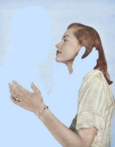 "Saatchi Art Artist: Joe Webb; Photography 2012 Collage ""Absent Minded"" saatchiart.com"