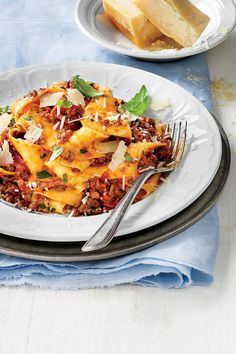 Quick Ground Beef Recipes: Slow-Cooker Bolognese Sauce over Pappardelle Pasta