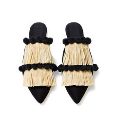 Sanayi 313. The raffia slide - for warm toes and frosty heels.