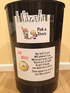 Chores and de~clutter! Parenting Done Right, Kids And Parenting, Parenting Hacks, Kinder Routine-chart, Teaching Kids, Kids Learning, Kids Routine Chart, Chore Board, Chore Chart Kids