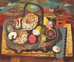 """Fungi"" by Julian Trevelyan. 1944. Oil on canvas"
