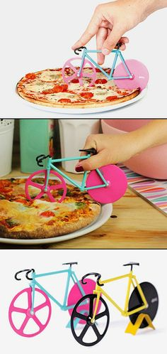 geek bike pizza cutter