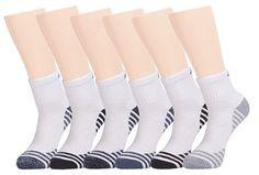 Joynée Men's Athletic Cushioned Quarter Ankle Socks Pack of 6 Cool Socks, Best Socks, Look Good Feel Good, Ankle Socks, Athletic, Diving, Coloring Books, February, Tops