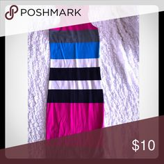 Multi color Light use multi color dress knee length Express Dresses