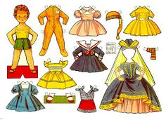 muñecas recortables, paper dolls, Бумажные куклы , bambole da carta, poupées en papier, 纸娃娃 ,: ANTIGUAS