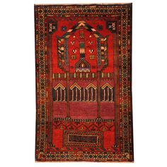 Refurbished Herat Oriental Semi-antique Afghan Hand-knotted Tribal Balouchi Rust/ Rug
