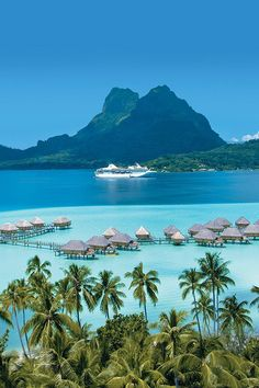 Bora Bora - França by nannie - Science & Nature - Urlaub Vacation Places, Vacation Destinations, Dream Vacations, Vacation Spots, Places To Travel, Places To See, Romantic Vacations, Italy Vacation, Romantic Travel